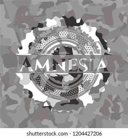 Amnesia on grey camo texture