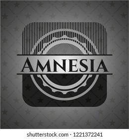 Amnesia realistic black emblem