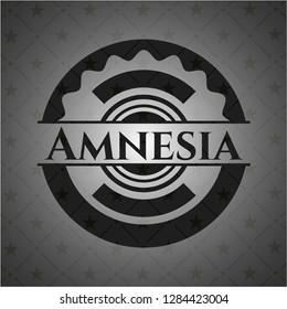 Amnesia retro style black emblem