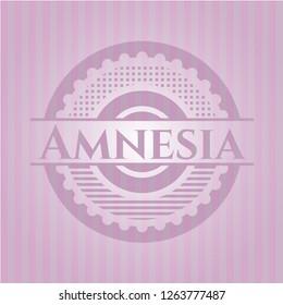 Amnesia retro style pink emblem