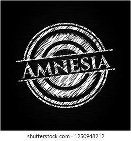 Amnesia written on a blackboard