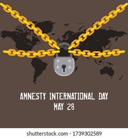 Amnesty International Day, 28 May. Vector Illustration.