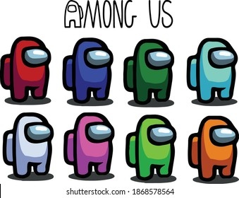 among us illustration color collection