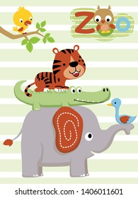The Amount Of Animals cartoon Piled Up