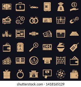 Amount of money icons set. Simple set of 36 amount of money vector icons for web for any design
