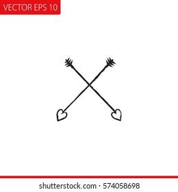 Amour Arrows Icon Vector