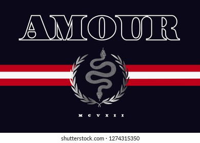 Amour crest graphic