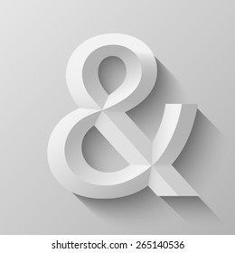 Ampersand with bevel