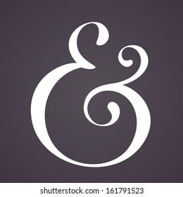 Ampersand for decoration. Vector illustration