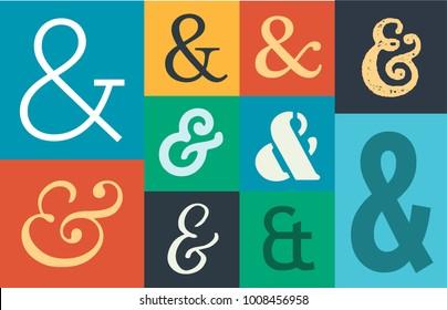 Ampersands Background Vector Illustration