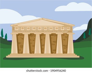 Amphitheater Greece Rome Columns Acropolis Antiquity
