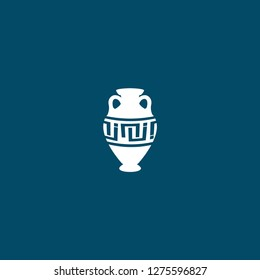 amphora icon . amphora icon on blue background