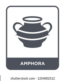 amphora icon vector on white background, amphora trendy filled icons from Greece collection