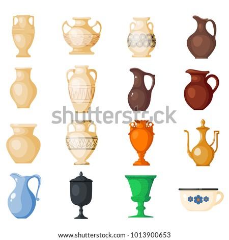 Amphora Vector Amphoric Ancient Greek Vases Stock Vector Royalty