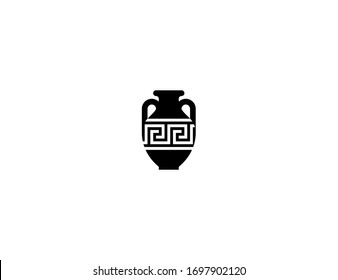 Amphora vector flat icon. Isolated Jar, Vase illustration