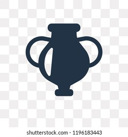 Amphora vector icon isolated on transparent background, Amphora transparency concept can be used web and mobile