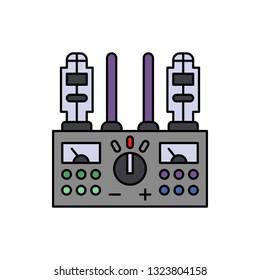 Amplifier, audio, audiophile icon. Element of color music studio equipment icon. Premium quality graphic design icon. Signs and symbols collection icon