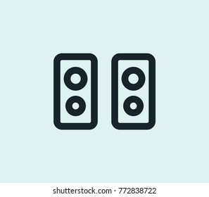 Amplifier icon loudspeaker line isolated on clean background. Loudspeaker concept drawing amplifier icon line in modern style. Vector amplifier icon illustration for your web mobile logo app design.
