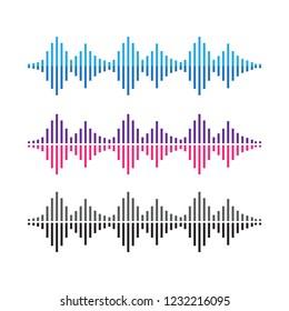 Amplitude waves. Music sound voice wave. Dynamic equalizer