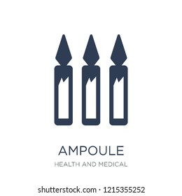 Ampoule icon. Trendy flat vector Ampoule icon on white background from Health and Medical collection, vector illustration can be use for web and mobile, eps10