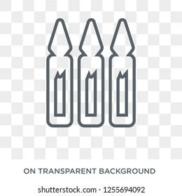 Ampoule icon. Trendy flat vector Ampoule icon on transparent background from Health and Medical collection. High quality filled Ampoule symbol use for web and mobile
