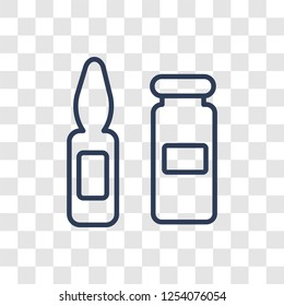 Ampoule icon. Trendy linear Ampoule logo concept on transparent background from Health and Medical collection