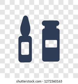 Ampoule icon. Trendy Ampoule logo concept on transparent background from Health and Medical collection