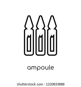 Ampoule icon. Trendy modern flat linear vector Ampoule icon on white background from thin line Health and Medical collection, editable outline stroke vector illustration
