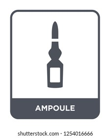 ampoule icon vector on white background, ampoule trendy filled icons from Health and medical collection, ampoule simple element illustration