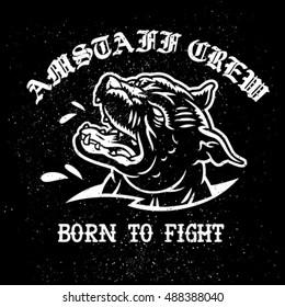 Amstaff crew vector emblem.