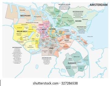amsterdam administrative map