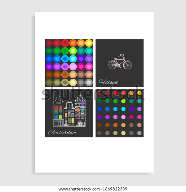 Amsterdam catalog colors. Vector illustration.