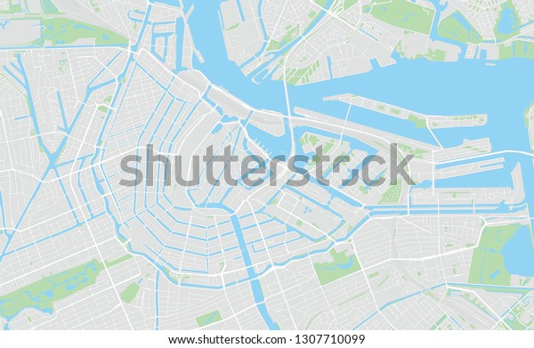 graphic relating to Printable Map of Amsterdam titled Amsterdam Netherlands Printable Map Clic Shades Inventory