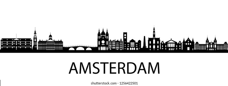Amsterdam, Netherlands Silhouette