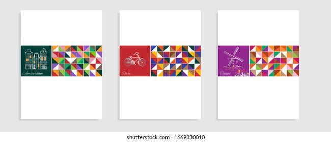 Amsterdam theme catalog. Vector illustration.
