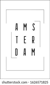 Amsterdam Vector design for t-shirt graphics, banner, fashion prints, slogan tees, stickers, cards,flyer, posters and other creative uses