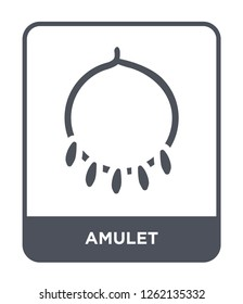 amulet icon vector on white background, amulet trendy filled icons from Stone age collection, amulet simple element illustration