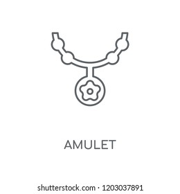 Amulet linear icon. Amulet concept stroke symbol design. Thin graphic elements vector illustration, outline pattern on a white background, eps 10.