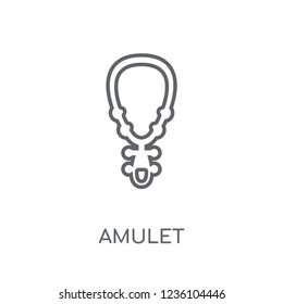 Amulet linear icon. Modern outline Amulet logo concept on white background from Desert collection. Suitable for use on web apps, mobile apps and print media.