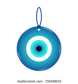 Amulet, talisman from the evil eye and spoilage, isolated on white background. Vector illustration.