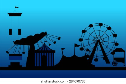 Amusement park carnival background