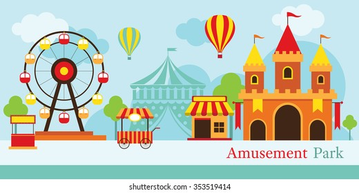 Amusement Park, Carnival, Fun Fair, Circus, Day Scene festival
