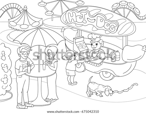 Hot dog coloring Hot dogs coloring page awesome great recipe of ... | 470x600
