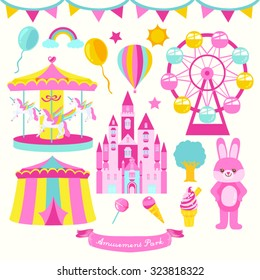 Amusement Park Vector Design illustration