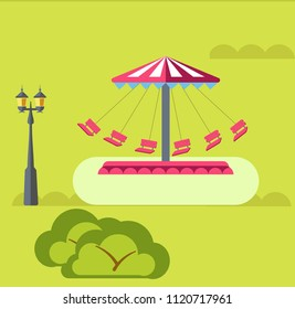 Amusement park vector rides attraction