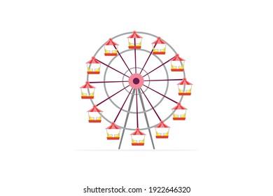 Amusement Parks Ferris Wheel Vector Icon