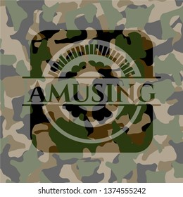 Amusing on camouflage pattern