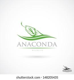 Anaconda sign - vector illustration