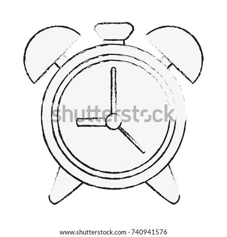 Analog Alarm Clock Icon Image Stock Vector (Royalty Free