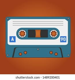 Analog audio cassette - vector illustration